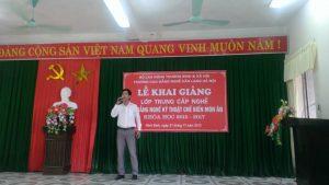 Lễ khai giảng khóa học nấu ăn 01 tại Ninh Bình
